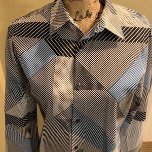 Perry Ellis long sleeve men's shirt (size M)